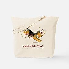 Welsh Terrier Holiday Dog! Tote Bag
