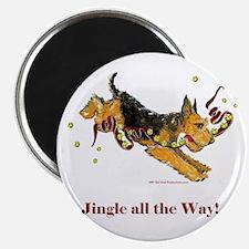Welsh Terrier Holiday Dog! Magnet