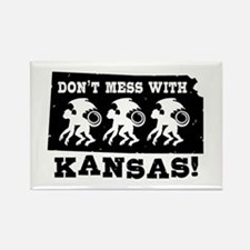 Don't Mess With Kansas Rectangle Magnet