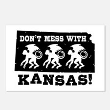Don't Mess With Kansas Postcards (Package of 8)