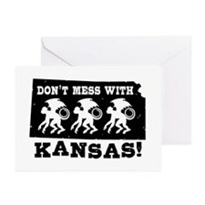 Don't Mess With Kansas Greeting Cards (Pk of 10)