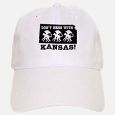 Don't Mess With Kansas Baseball Baseball Cap