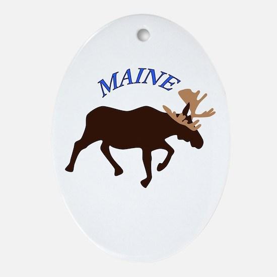 Maine Moose Oval Ornament