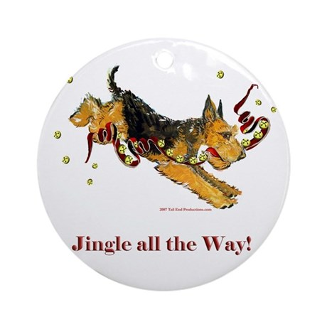 Welsh Terrier Holiday Dog! Ornament (Round)