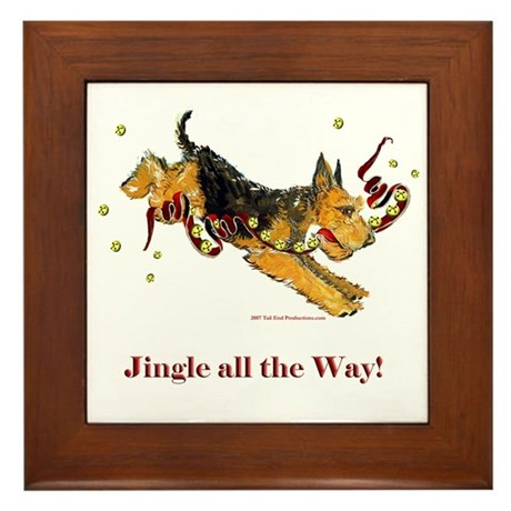 Welsh Terrier Holiday Dog! Framed Tile