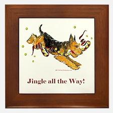 Welsh Terrier Holiday Dog! Framed Tile