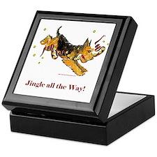 Welsh Terrier Holiday Dog! Keepsake Box