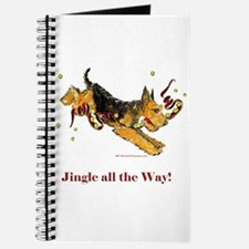 Welsh Terrier Holiday Dog! Journal