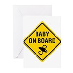 Baby on Board Greeting Cards (Pk of 20)