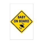 Baby on Board Mini Poster Print