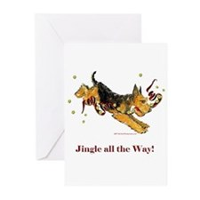 Welsh Terrier Holiday Dog! Greeting Cards (Pk of 1