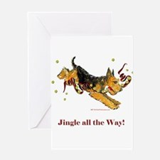 Welsh Terrier Holiday Dog! Greeting Card