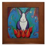 Marcy Hall's Lotus Rabbit Framed Tile