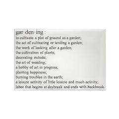 Gardening defination Rectangle Magnet