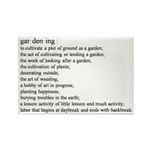 Gardening defination Rectangle Magnet (10 pack)