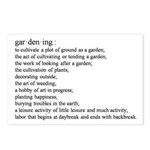 Gardening defination Postcards (Package of 8)