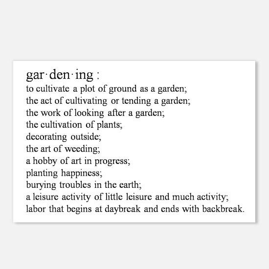 Gardening defination Postcards (Package of 8)