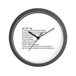 Gardening defination Wall Clock