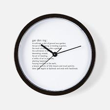 Gardening defination Wall Clock