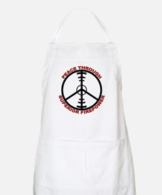 Peace Through Superior Firepower BBQ Apron