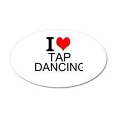 I Love Tap Dancing Wall Decal