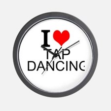 I Love Tap Dancing Wall Clock
