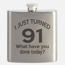 I Just Turned 91 What Have You Done Today ? Flask