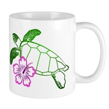 Sea Turtle w/ Hibiscus Mug