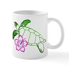 Sea Turtle w/ Hibiscus Small Mug