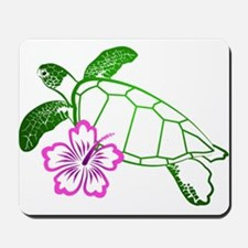 Sea Turtle w/ Hibiscus Mousepad