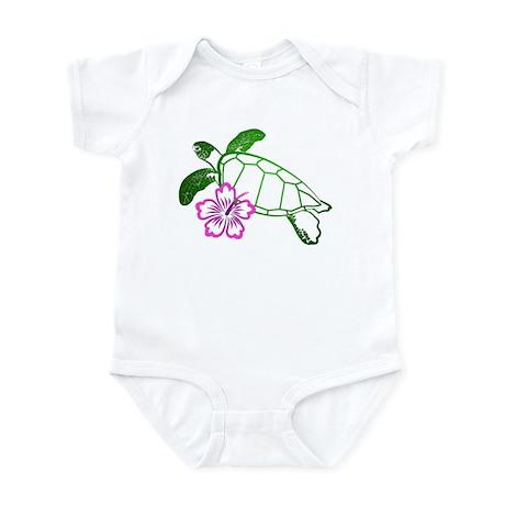 Sea Turtle w/ Hibiscus Infant Bodysuit