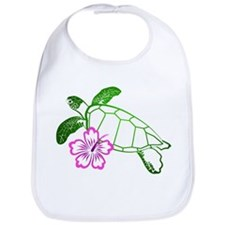 Sea Turtle w/ Hibiscus Bib