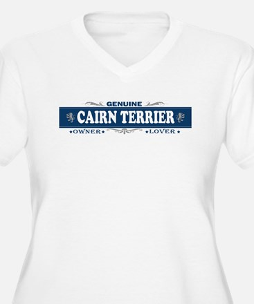 CAIRN TERRIER Womes Plus-Size V-Neck T-Shirt