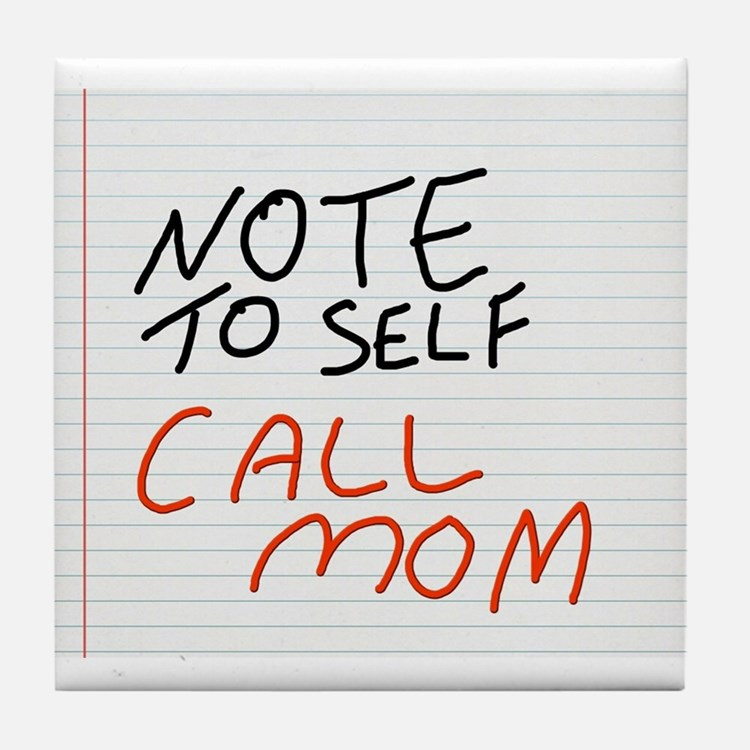Note to self Tile Coaster