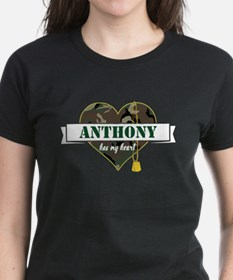 Army Personalized Heart Tee