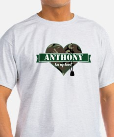 Army Personalized Heart T-Shirt