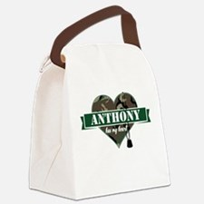 Army Personalized Heart Canvas Lunch Bag
