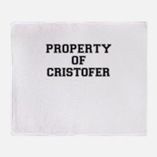 Property of CRISTOFER Throw Blanket