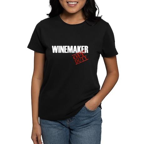 Off Duty Winemaker Women's Dark T-Shirt