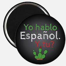 "Yo Hablo Espanol. 2.25"" Magnet (100 Pack) Mag"