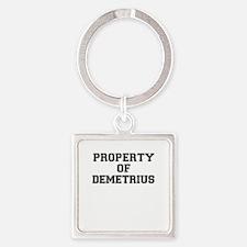 Property of DEMETRIUS Keychains
