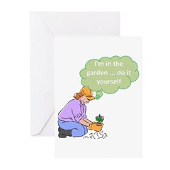 I'm in the garden Greeting Cards (Pk of 10)