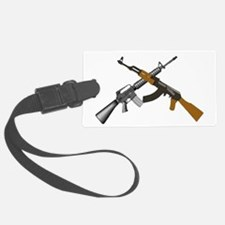 Crossed AR 15 and AK 47 Luggage Tag