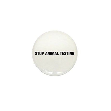 Stop Animal Testing Mini Button