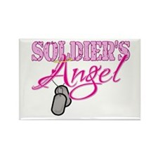 Soldier's Angel Rectangle Magnet