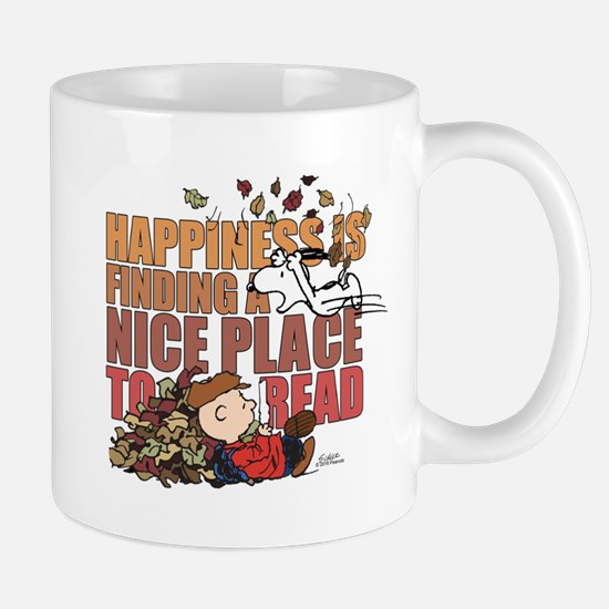 Peanuts Fall Reading Mug