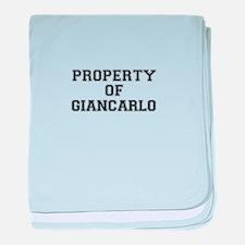 Property of GIANCARLO baby blanket