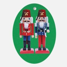 The Happy Shriners Nutcrackers Oval Ornament