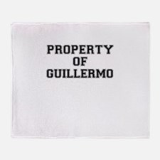 Property of GUILLERMO Throw Blanket