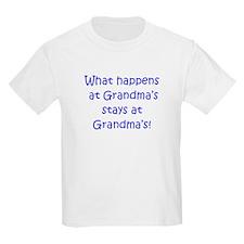 Happens at Grandmas (blue) T-Shirt
